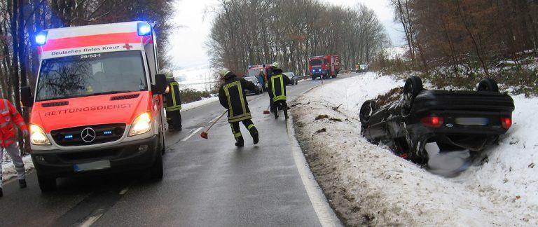 Verkehrsunfall zwischen Holzfeld und Werlau
