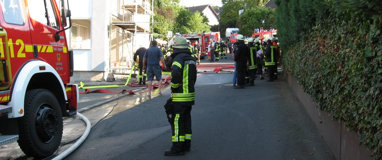 Wohnhausbrand in Holzfeld
