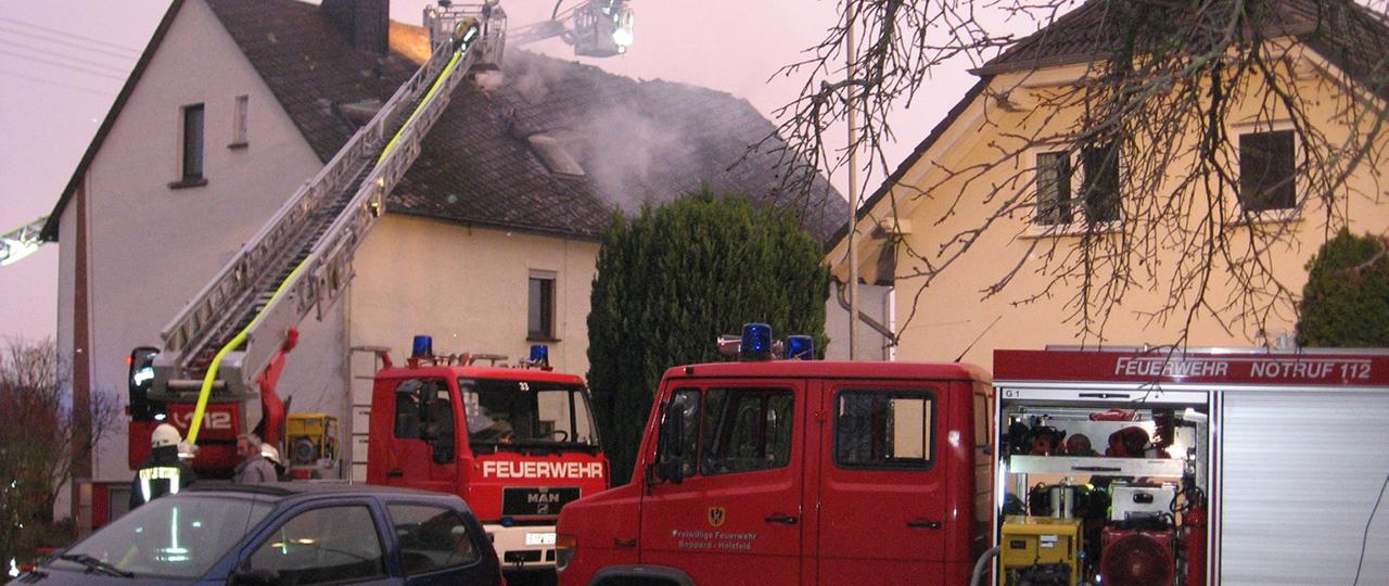 Wohnhausbrand in Boppard-Oppenhausen